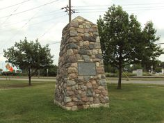 Monument for the Battle of Frenchtown.   http://discover1812.blogspot.ca/2013/01/scarcely-left-us-power-to-breathe.html