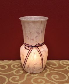 Handmade Lavender Paper with Petals Glass Vases by KjgBoutique on Etsy