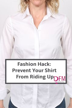 Here is a cool little trick to keep your shirt from riding up when wearing it under a sweater or anything else for that matter.