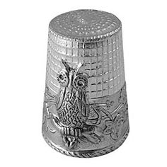 Sterling Silver Owl Thimble in Holiday 2012 from Uno Alla Volta on shop.CatalogSpree.com, my personal digital mall.