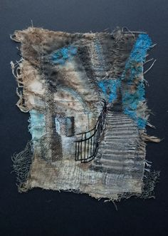 Gothic Decay creates unique pieces of textile art based on urban decay Embroidery Art, Machine Embroidery, Decay Art, Art Base, Industrial Metal, Art Sketchbook, Textile Art, Fiber Art, Art Projects