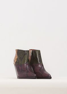 Acne Studios Cinzia Multi Ankle Boot (Rosewood Red)