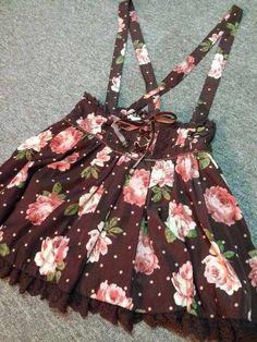 Rose Suspender Skirt, by Liz Lisa.