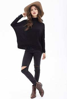Turtleneck Dolman Top | FOREVER21 - 2000105284