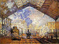 Claude Monet--Gare Saint Lazare – Art Prints on Canvas (Giclees)