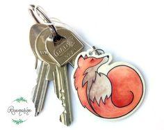 Fox charm - Animal totem  Handmade from Shrink plastics