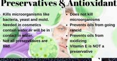 Most well made natural cosmetics have some form of preservative or antioxidant in them. They are necessary to keep you and the products safe. Not all preservatives and antioxidants are created equal so don't be afraid of them. Be Leary of products that don't have any at all.