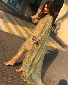 10 Times Maya Ali Brightened Up The Floor In Her Stunning Formal Dresses - Bridals. Pakistani Wedding Outfits, Pakistani Bridal Dresses, Pakistani Wedding Dresses, Pakistani Dress Design, Indian Dresses, Indian Outfits, Stylish Dresses, Fashion Dresses, Modern Outfits
