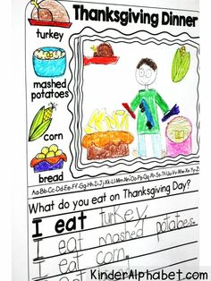 Daily journal prompts for November. I love the picture/word bank. It includes prompts about pilgrims, native americans, turkeys, and Thanksgiving. (Differentiated for 3 levels of writing):
