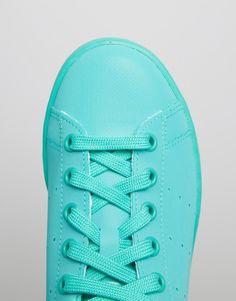 new product 1f2b1 81227 adidas Originals – Stan Super Colour Shock – Mintgrüne Sneaker at asos.com