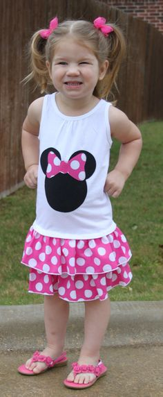 Minnie Mouse inspired ruffle dress by adaliedesigns on Etsy, $29.00