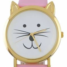 Fashion Leather Cat Ear Leopard Women Quartz Wrist Watch - US$4.13