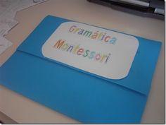 escola i llar: Carpeta-pissarra de gramàtica Montessori