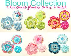 Bloom Collection - handmade flowers by Holland Fabric House, via Flickr