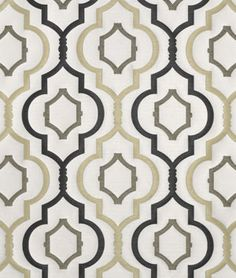 I see how the colors and shape of the design would work, but it looks awfully formal/traditionalish.  Not sure.  Swavelle / Mill Creek Galatia Iron Fabric