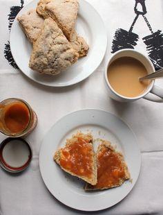 Kitchen Trial and Error: whole wheat vanilla scones