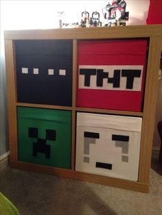 Minecraft bedroom drawers - love ikea hacks!
