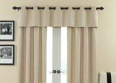 I really like this idea for curtains on our french doors!!!