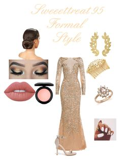 Formal Wear. by sweeettreat95 on Polyvore featuring polyvore fashion style Zuhair Murad Glaze Eddera Bloomingdale's Avigail Adam Lime Crime MAC Cosmetics clothing