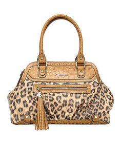 Love this Jessica Simpson Collection Leopard Kelsey Satchel by Jessica Simpson Collection on #zulily! #zulilyfinds