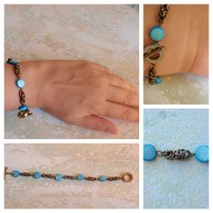The turquoise version.  Handmade Jewellery by ACBeads in Setúbal, Portugal
