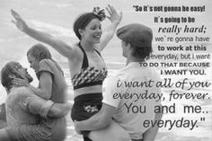 I heart this quote! Pretty much my favorite movie quote ever because it's truth, not just mush and mashed potatoes. Love is not always easy to swallow. Poems For My Girlfriend, Nicholas Sparks, Movie Love Quotes, Awesome Quotes, Quotes Quotes, Love Poems, Random Quotes, Quotable Quotes, Great Quotes