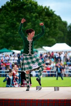 Bute Highland Games 2013 | Flickr - Photo Sharing! // Dress Green Lennox kilt with hose and green jacket.