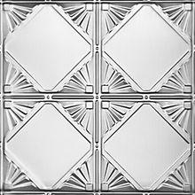 Checkered Deco - Tin Ceiling Tile - #1205