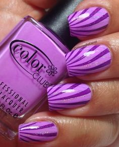 Best Purple Nail Art Designs 2014