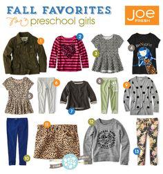 Studio Pebbles round-up of favorite picks from the Joe Fresh for JCP line | #kidsfashion #backtoschool #girls #preschool