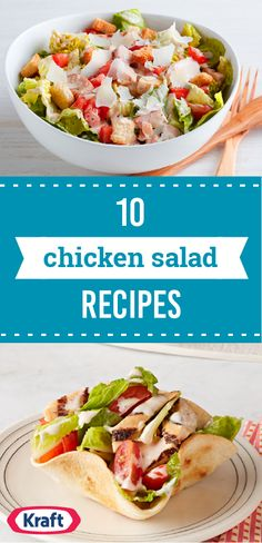 10 Chicken Salad Recipes – When life gives you leftover chicken, make chicken salad recipes! These are just a few of our favorites—including ideas for Healthy Living chicken salads and salads that take advantage of great ingredients like quinoa and kale. Some are served cold, some are served hot like a chicken stir-fry—but all are delicious!