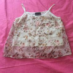 PRE-FALL SALE Floral Tank Top Preloved and beautiful, I don't use this top enough so it needs a new home! 😊 hand wash cold separately, do not bleach, lay flat to dry, iron on lowest setting 😊 🚫 NO TRADES, NO HOLDS, NO PAYPAL, NO MERCARI 🚫 smoke free, pet free home 😊 let me know if you have any other questions 😊 PLEASE MAKE OFFERS THROUGH THE OFFER BUTTON. 😊 Anxiety Tops Tank Tops