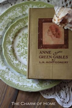A tea in honor of one of my favorite literary characters, Anne of Green Gables. Anne Shirley, Anne With An E, Prince Edward Island, Vintage Books, Vintage China, Shades Of Green, Book Worms, Tea Party, My Favorite Things