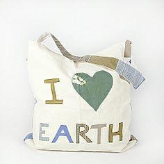 I Love Earth certified organic canvas bag