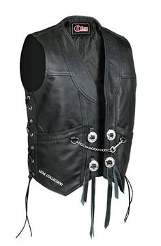 Son Of Anarchy Black Real Leather Handmade Motorcycle Biker Waistcoat Club Vest Modern Techniques Clothing, Shoes & Accessories Ebay Motors
