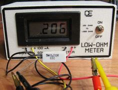 Low Ohm Meter - Measures 0.001 up to 1.999 Ohm