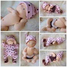 """.................. ivaDolls ..................: New experiment - 14"""" and 12"""" baby dolls"""