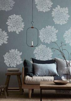 Painting Stencil Large Scabiosa Flower Walls Stencils Plaster Molds