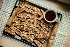 kawowo-orzechowe biscotti