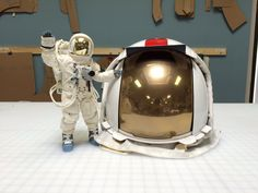 Ryan shows off his recently completed replicas of the Apollo Lunar Excursion Visor Assembly (LEVA), talks about getting them signed at Spacefest, and talks a. Astronaut Costume, Cosplay Diy, Apollo, Closer, Helmet, Moon, Suit, Costumes, Space