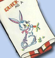 1960s Vogart Kitchen Sayings Transfer Quick as A Uncut Orig Tea Towel Transfer   eBay