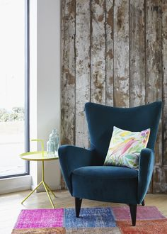 do south shop joseph blue armchair and sarah campbell cushion