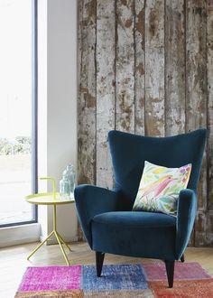 do south shop joseph blue armchair and sarah campbell cushion
