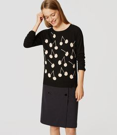 Primary Image of Cherry Button Back Sweater
