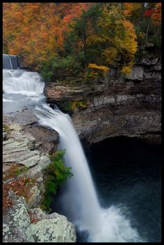 Autumn at DeSoto Falls State Park, Alabama.
