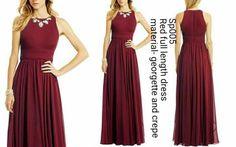 Wine full length maxi dress