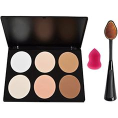 Makeup Palette ,Start Makers 6 Colors Contour Highlighting Kit Oval Toothbrush and Mini Sponge -- You can get more details by clicking on the image. (This is an affiliate link) #Makeup