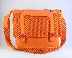 Sac messager en tissu, Sac à bandoulière orange, Sac à main coloré de la boutique Mafelou sur Etsy