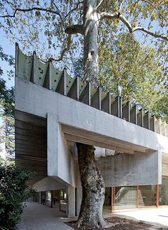 The Nordic pavillion at the Venice Biennale/ 1962, designed by Sverre Fehn,