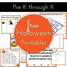 Free Halloween Activity Pack from Stella123